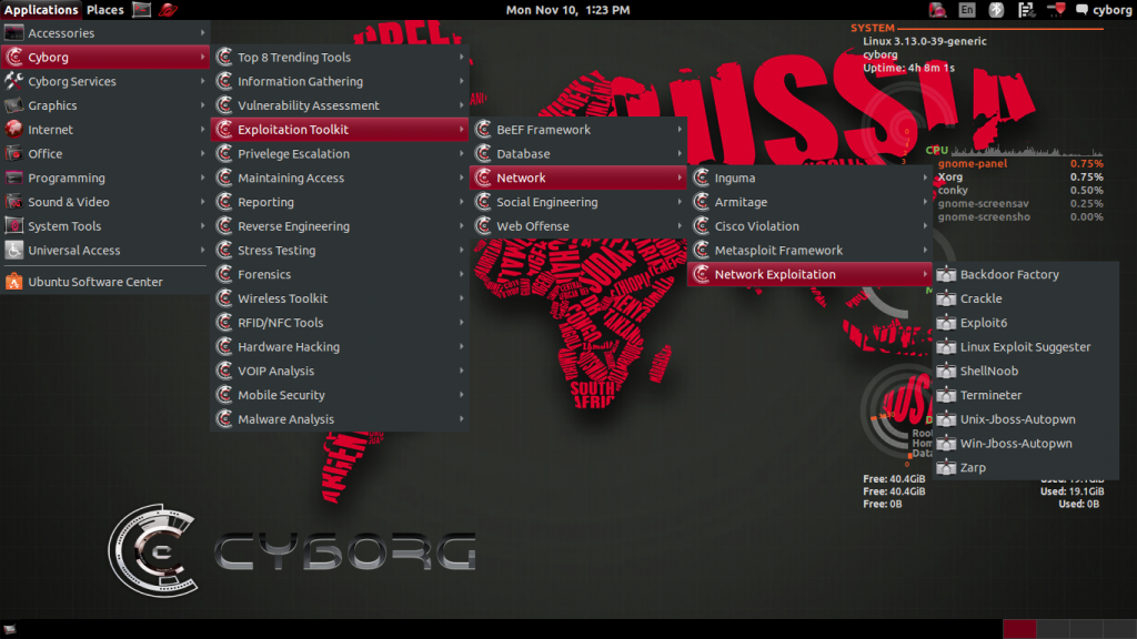 Cyborg Hawk Linux is ready to take on Kali ?