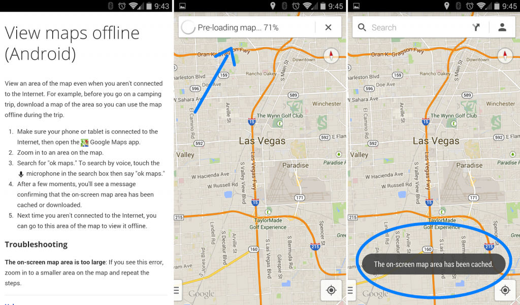 How to use Google Maps in Offline mode