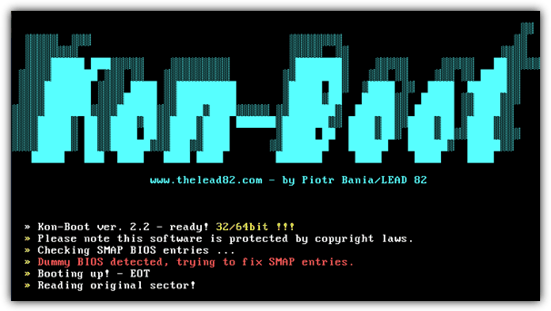 Kon-Boot – Bypass windows passwords