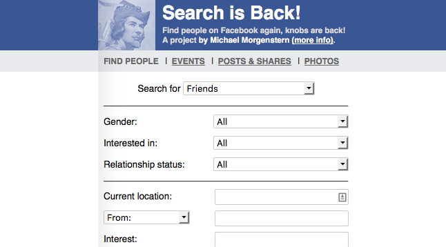 "Facebook ""Search is Back"" – Ultimate search tool"