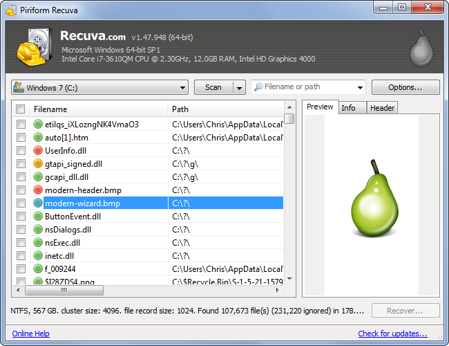 Recovering your Deleted Files