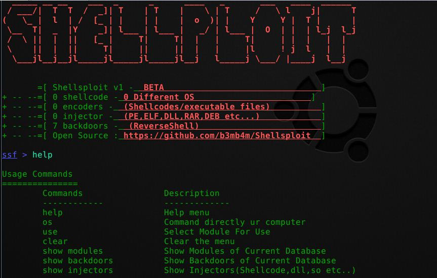 Shellsploit – New Generation Exploit Development Kit