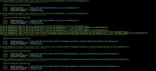 Whitewidow – SQL Vulnerability Scanner