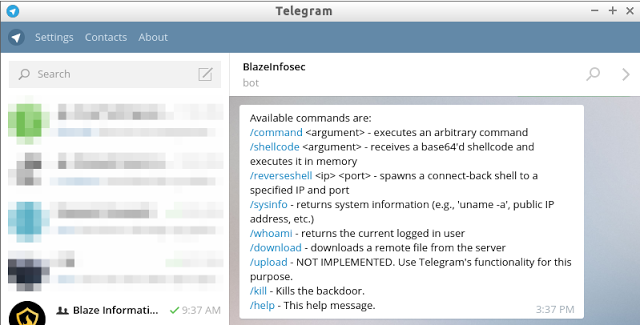 Bt2 – Blaze Telegram Backdoor Toolkit