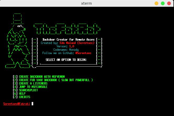 TheFatRat – Easy Tool to Generate Backdoor