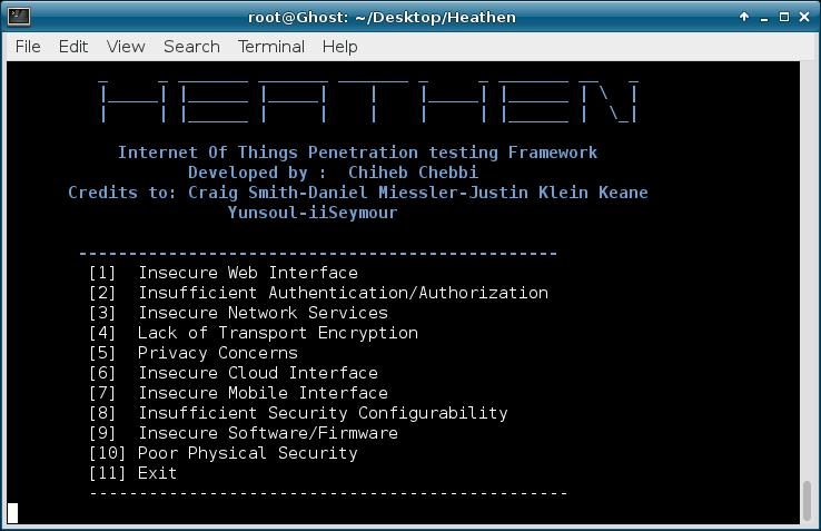 Heathen – IoT Pentesting Framework