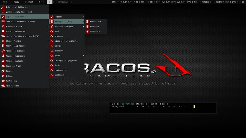 DracOS – Lightweight and Powerful Penetration Testing OS