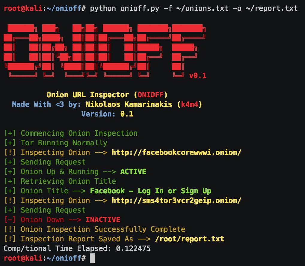 ONIOFF – Onion URL Inspector