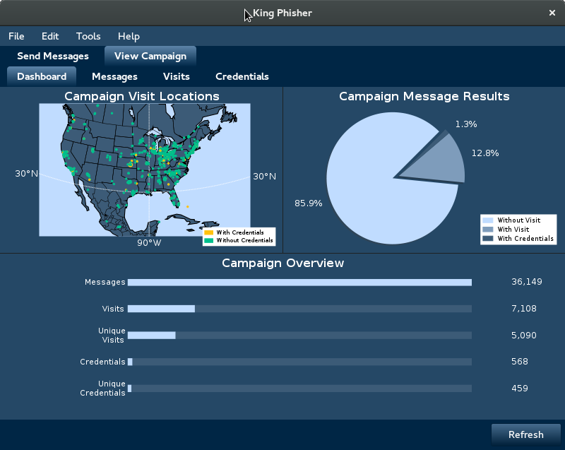 King Phisher 1.5.2 – Phishing Campaign Toolkit