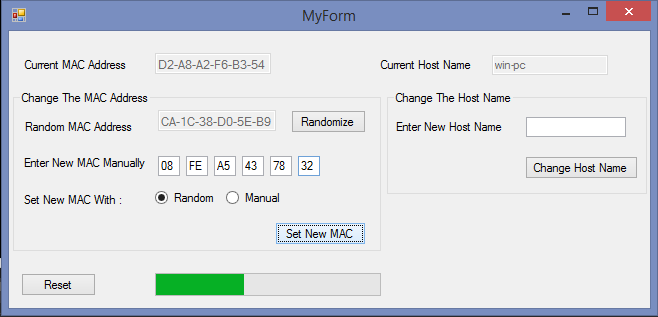 WinMACSpoofer – Windows Tool For Spoofing The Mac Address and Hostname