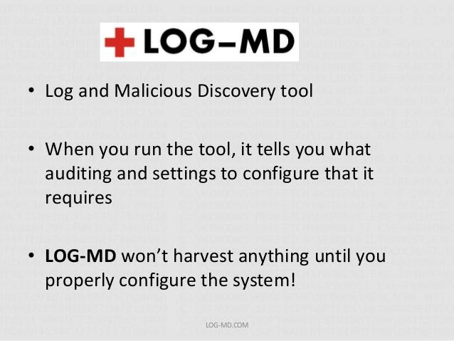 LOG-MD – Log Malicious Detection tool