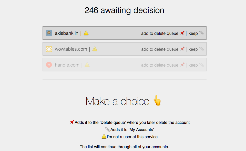 Deseat.me – Finds and Helps You Delete Random Accounts You've Signed Up For