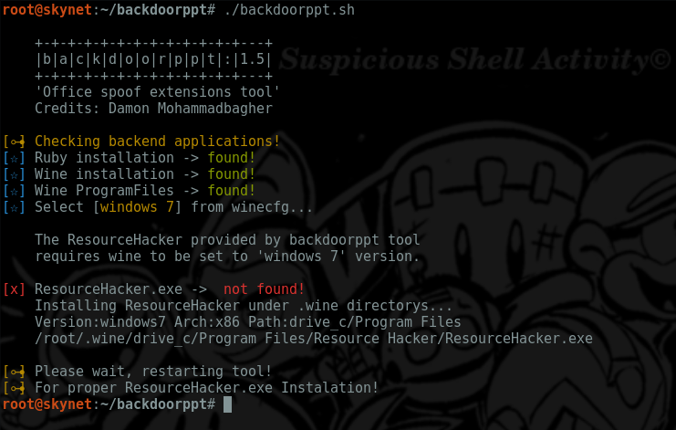 backdoorppt – Transform your payload.exe into one fake word doc