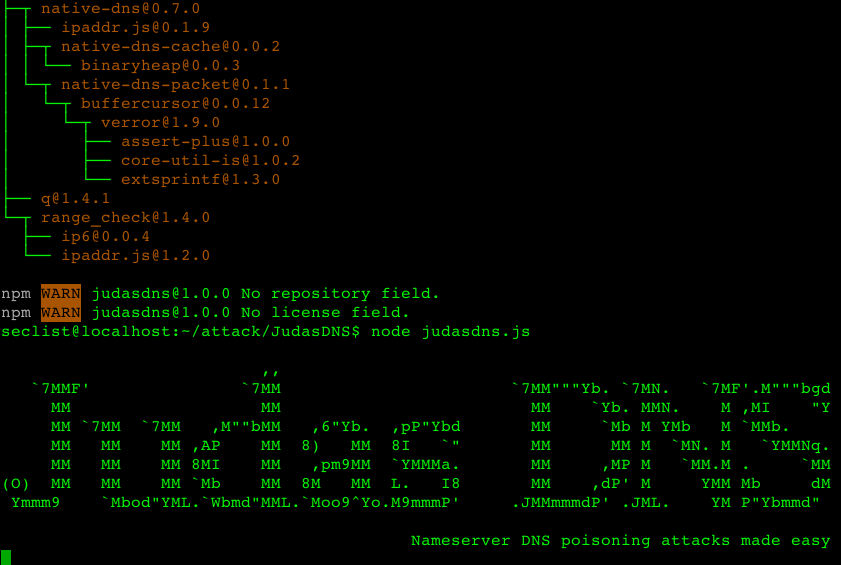 JudasDNS – Nameserver DNS poisoning attacks made easy