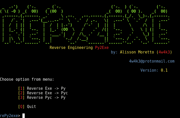 rePy2exe – A Reverse Engineering Tool for py2exe applications