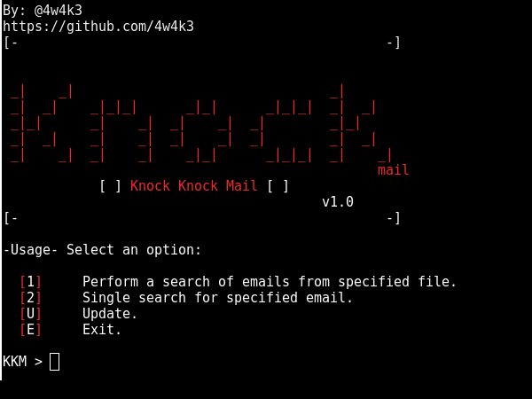 KnockMail – Verify if an Email exists
