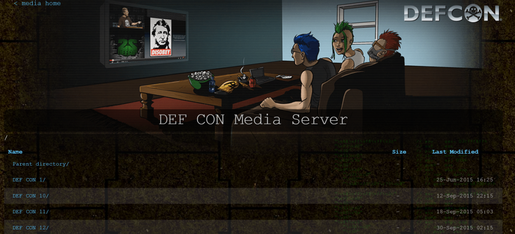 DEFCON Media Server – Dedicated Server for Accessing all of Defcon's Presentations, Music, Conferences and much more.