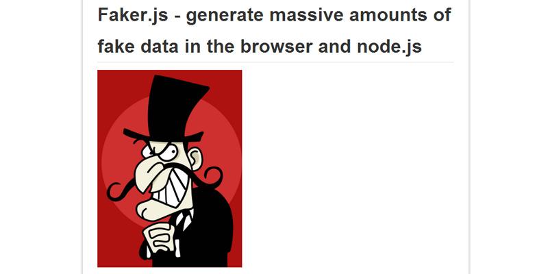 Faker.js – Generate Massive Amounts of Fake Data