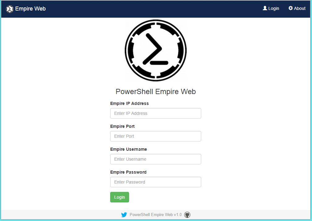 Empire – Powershell Exploitation kit with Web Interface