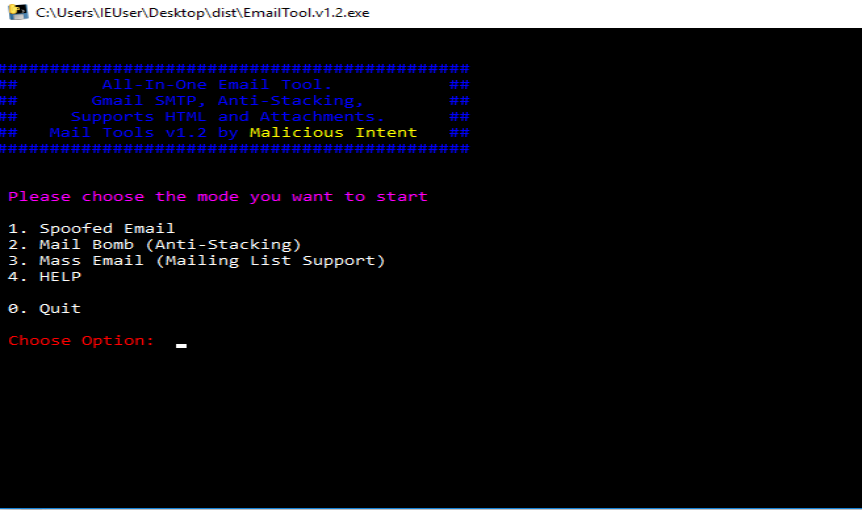 Mail Tool v1.2 – E-mail spoofing tool