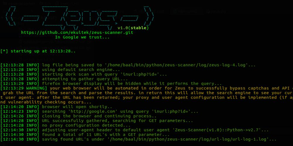Zeus Scanner – Advanced Dork Searching Utility
