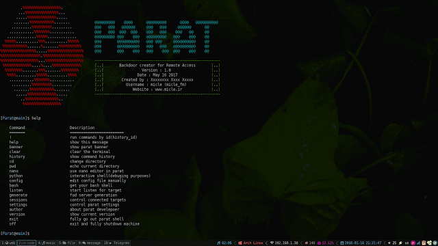 Parat – Python Based Remote Administration Tool
