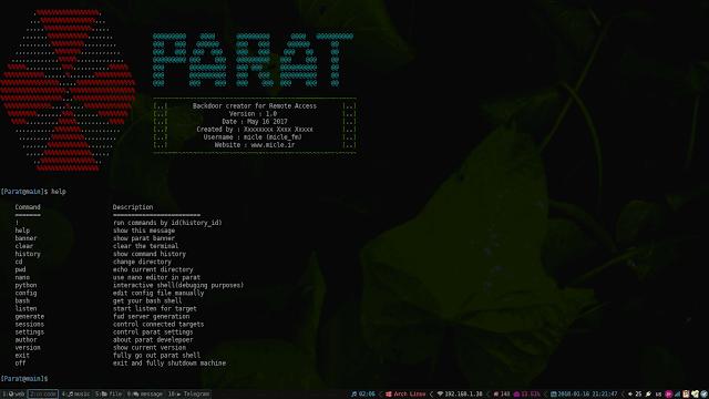 Parat – Python Based Remote Administration Tool