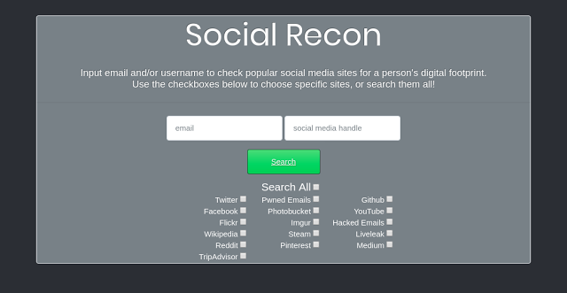 Social Recon – Investigate The Online Presence And Footprint Of Someone