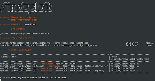 Findsploit – Find Exploits In Local And Online Databases Instantly
