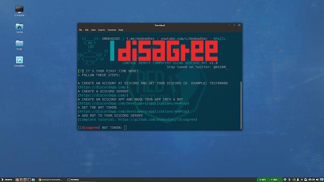 Idisagree - Control Remote Computers Using Discord Bot - Haxf4rall