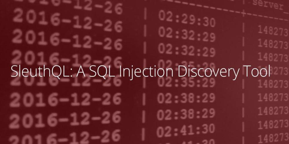 SleuthQL – SQL Injection Discovery Tool