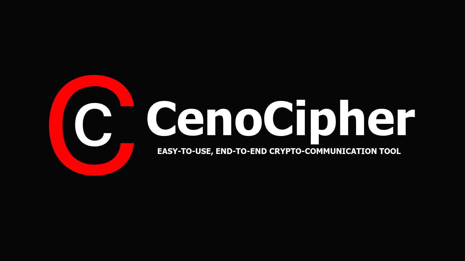 CenoCipher – Easy-to-Use, End-to-End Crypto-Communication Tool