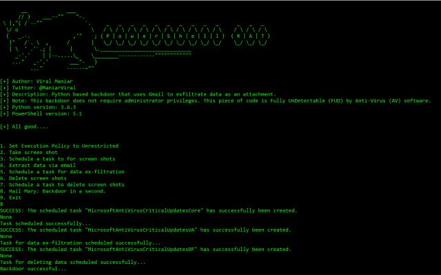 Powershell-RAT – Gmail Exfiltration RAT
