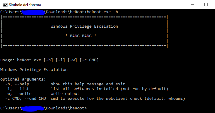 BeRoot For Windows – Privilege Escalation Project