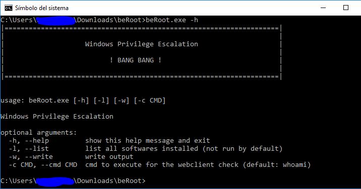 BeRoot For Windows – Privilege Escalation Project