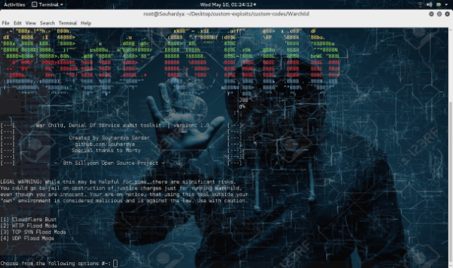 WarChild – Denial Of Service Testing Suite Made For Analyzing