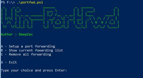 Win-PortFwd – Windows Port forwarding using native netsh client
