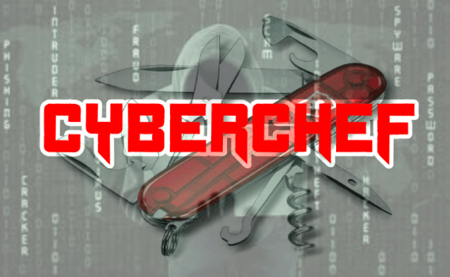 CyberChef – A web App For Encryption, Encoding, Compression & Data Analysis