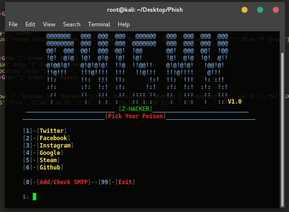 PhishX – Spear Phishing Tool