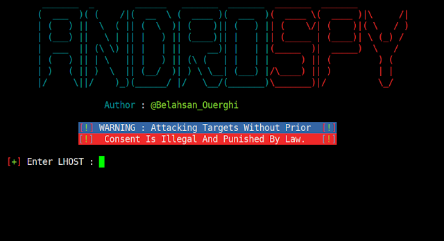 Androspy – Backdoor Crypter & Creator With Automatic IP Poisener