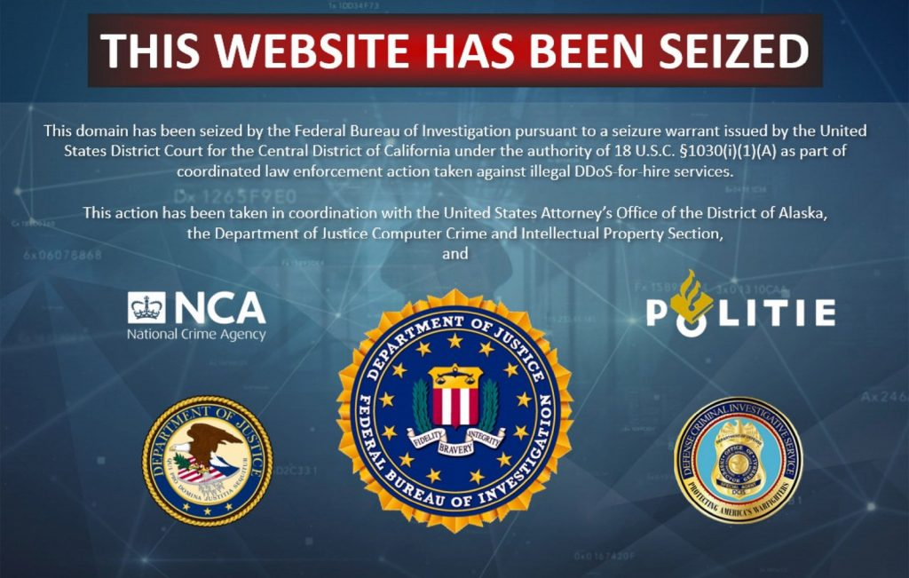 FBI cut off 15 DDoS-For-Hire Services website