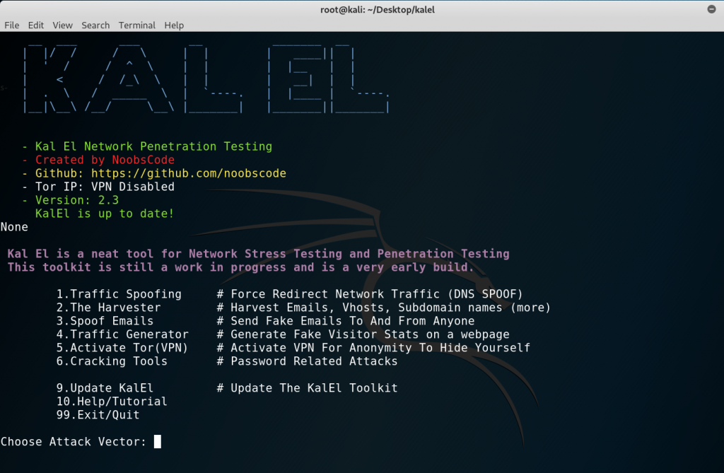 kalel: Network Stress Test and Penetration Testing Toolkit