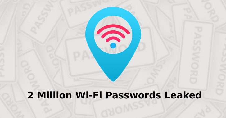 2 Million Wi-Fi Passwords Leaked Through Wi-Fi Hotspot Finder App