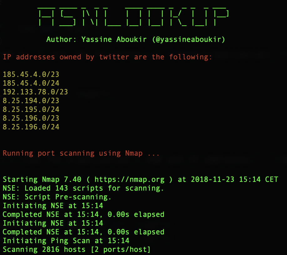 Asnlookup: Look up IP addresses registered and owned by a specific organization
