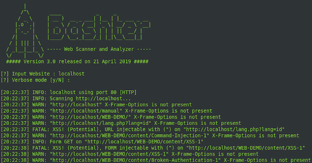 Bashter – Web Crawler, Scanner, and Analyzer Framework