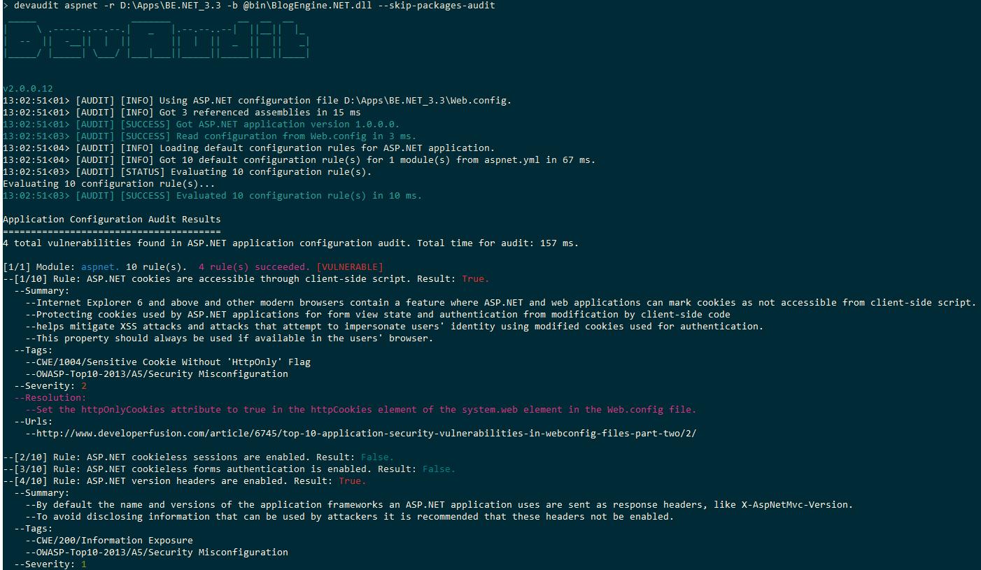 DevAudit – Open-source, cross-platform, multi-purpose security auditing tool