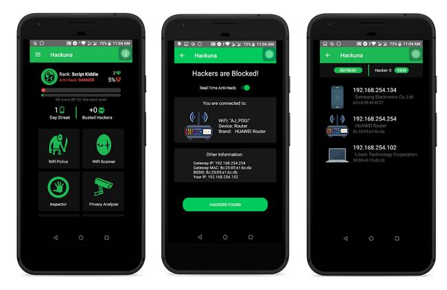 Hackuna – Mobile App to Track Hackers