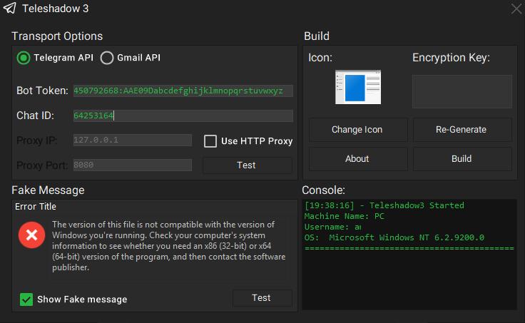 TeleShadow3 – Telegram Desktop Session Stealer