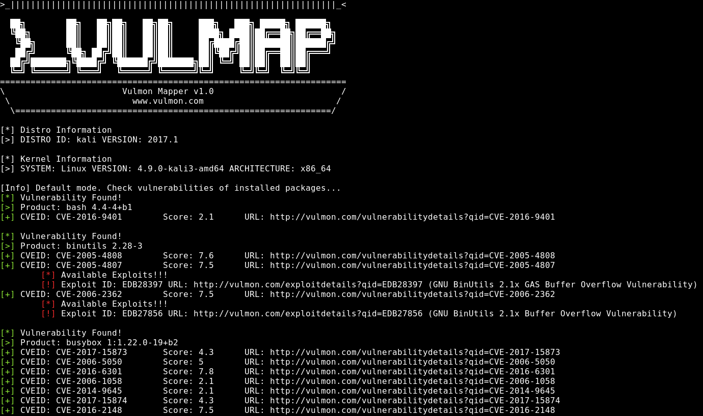 Vulmap – Online Local Vulnerability Scanners Project
